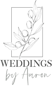 weddings by aaron logo