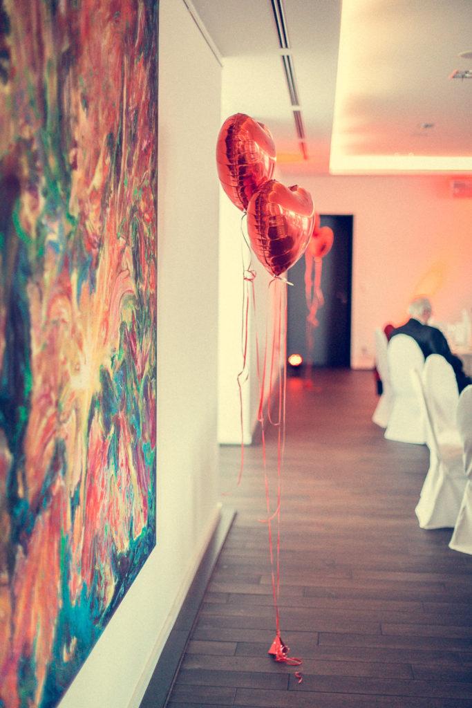 Hochzeitsballons im früh am dom